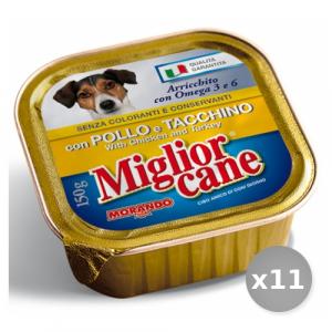 Set 11 MIGLIOR CANE 150 gr Umido Pollo-tacchino Cibo per Cani