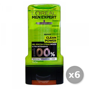 L'OREAL Set 6 Doccia Men  Power 300 ml Saponi E Cosmetici