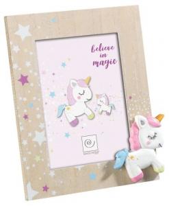MASCAGNI CASA Cornice rosa formato 13x18 con unicorno