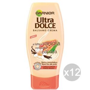 Set 12 GARNIER Ultra Dolce Balsamo Vaniglia-Papaya C/Lunghi Cura Dei Capelli