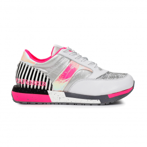 Sneaker argento/fluo CAFèNOIR