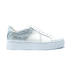 Sneaker bianca/argento Stau