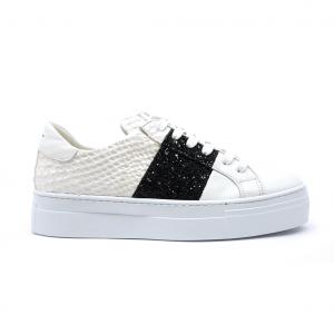 Sneaker bianca/nera tris Stau