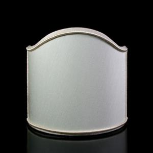 Paralume ventola shantung color avorio con bordura avorio.