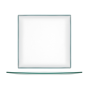 H&H Set 6 Piatti Vetro Quadrato Trasparente Cm30 Arredo Tavola