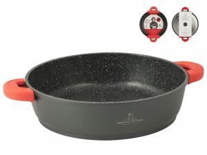 H&H Tegame 2 Manici Antiaderente Borghese Cm 28 Induzione pentola da cucina