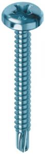Set 1000 Vite Autoperforante Zincatura Bianca Tc 2,9X9,5 E-100 Bulloneria-Viteria