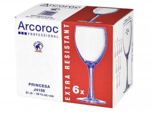 ARC Confezione 6 Calici In Vetro Princesa Cl31 Calici Vino Arredo Tavola
