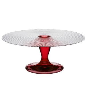 PASABAHCE Alzata generation rosso cm28 Vassoi da Arredo tavola