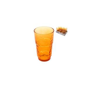ARC Set 6 Bicchieri Vetro Funnyflowers Arancio 27 Arredo Tavola