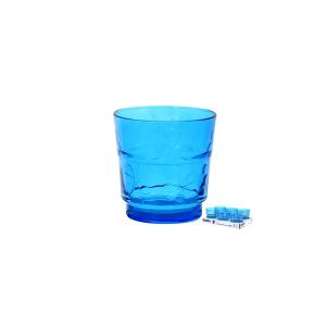 ARC Set 6 Bicchieri Vetro Funnyflowers Blu 25 Arredo Tavola