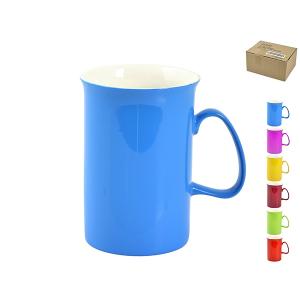 HOME Set 6 Mug New Bone China Cilindro Colori Assortiti Cc310 Arredo Tavola