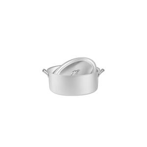 AGNELLI Casseruola ovale alluminio family con coperchio cm26 Pentole Cucina