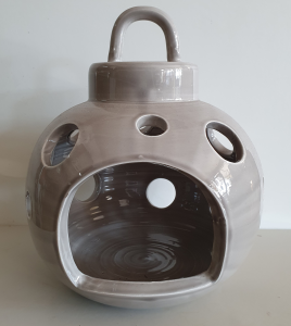 Lanterna ceramica Toscana Montelupo tortora grande
