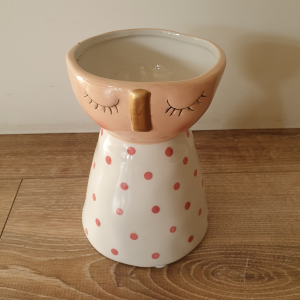 Vaso ceramica Edg viso rosa