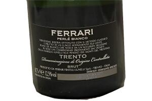 Spumante Ferrari Perlè Bianco Brut Trento DOC Millesimato 2010