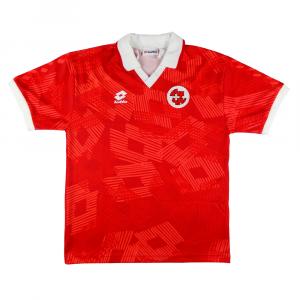 1992 Svizzera Maglia Match Worn vs Italia #10 Sforza XL C.O.A