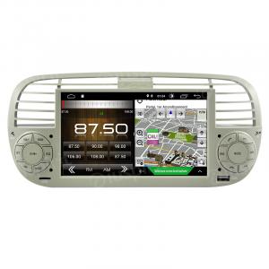 ANDROID 10 autoradio navigatore per Fiat 500 Fiat Abarth 500 2007-2015 Beige GPS USB WI-FI Bluetooth Mirrorlink