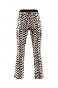 Pantalone trombetta tricot