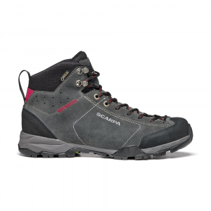 MOJITO HIKE GTX WOMAN   -   Fast hikes on mixed terrains, waterproof   -   Shark-Red Rose / Last Wide