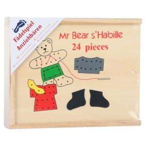 Orsetti da vestire in legno gioco da costruire per bambini, 24 pezzi
