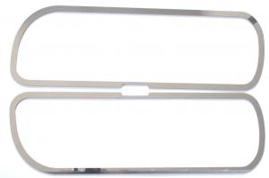 Cornice fari in acciaio inox Ideati per DAF XF 105 e DAF XF 95