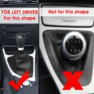 Pomello cambio 6 marce per BMW Serie 1 E81 E82 E87 E88 cuffia leva cambio 6 marce