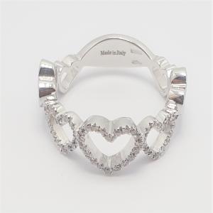 Anello Hearts in Oro Bianco e Brillanti - Davite & Delucchi