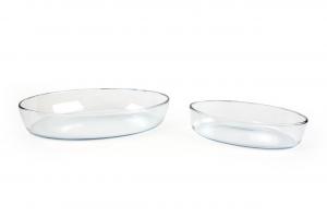 Set 2 pirofile ovali cm 26 e 35 cm.25x35,3x6,7h