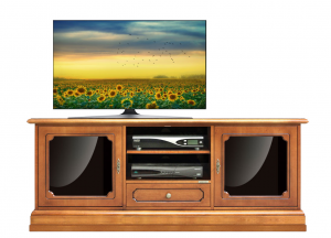 Porta tv 2 ante in vetro stile classico