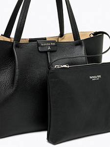 Borsa shopping media in pelle colore nero - PATRIZIA PEPE