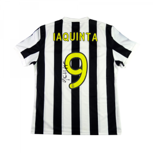 2009 Juventus Maglia Home Match Worn/Issue #9 Iaquinta Peace Cup Autografata XL