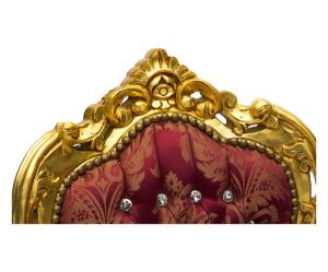Poltrona barocco oro rosso