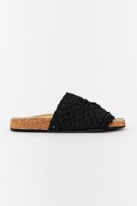 Sandali bassi tessuto nero - STRATEGIA