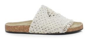 Sandali bassi tessuto colore bianco - STRATEGIA