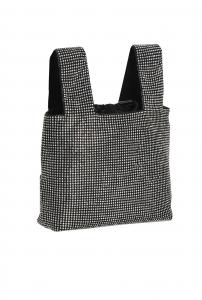 Gray bag full strass nera - PINKO