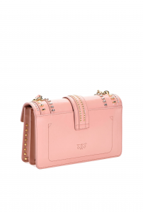 Love Bag Mix Studs pelle rosa - PINKO