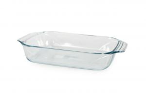 Pirofile teglia rettangolare in vetro borosilicato trasparente cm.20x31,5x6,5h