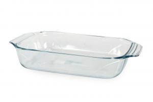 Pirofile teglia rettangolare in vetro borosilicato trasparente