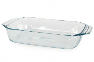 Pirofile teglia rettangolare in vetro borosilicato trasparente cm.39x25x7h