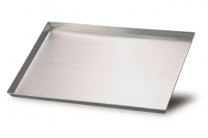 Teglia pizza pasticceria rettangolare bassa in alluminio cm.35x28x3h