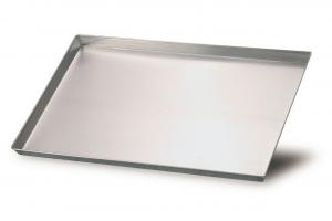 Teglia pizza rettangolare bassa in alluminio cm.50x35x3h