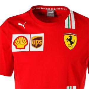 Scuderia Ferrari Team Tee 2020 Rosso Corsa