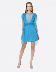Minidress in chiffon creponne Alberta Ferretti