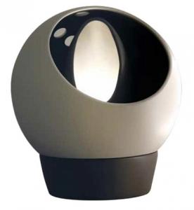 LAMPADA DA TAVOLO ROLLING  IN CERAMICA BI-COLOR
