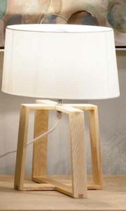 LAMPADA TABOR IN LEGNO E TESSUTO