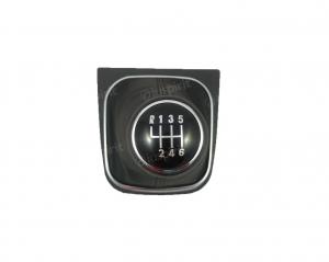 Pomello cambio 6 marce per VW Golf 5, Golf 6 Jetta Scirocco cuffia vera pelle leva cambio 6 marce cuciture nere