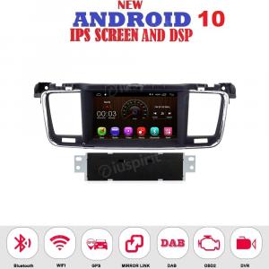 ANDROID 10 autoradio navigatore per Peugeot 508 2011-2017 GPS DVD USB WI-FI Bluetooth Mirrorlink