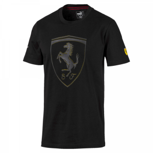SF Scuderia Ferrari  Big Shield Tee Puma Black