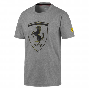 SF  Scuderia Ferrari Big Shield Tee Medium Grey Heather